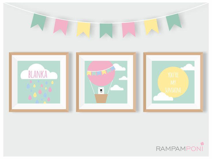Pastelowe plakaty z imieniem Twojego dziecka! - RAMPAMPONI - Plakaty dla dzieci