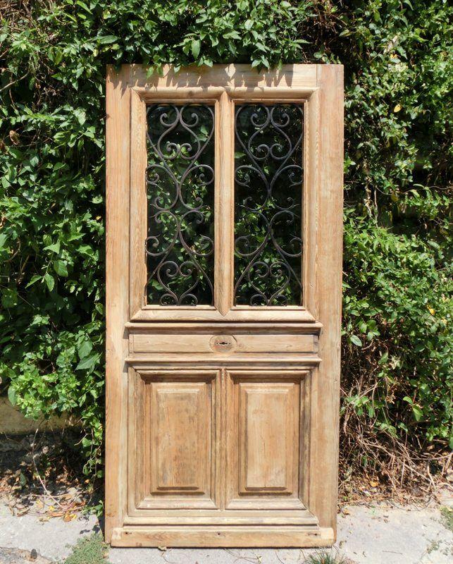 Antique Oak French Doors, Wood Glass Front Door, Architectural Windows  Hardware Frames - Antique Oak French Doors, Wood Glass Front Door, Architectural