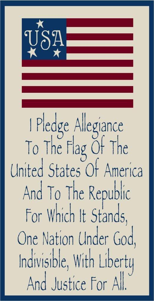 i pledge allegiance to the flag song
