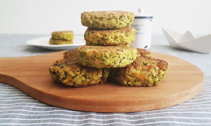 Croquetas de arroz integral con verduras