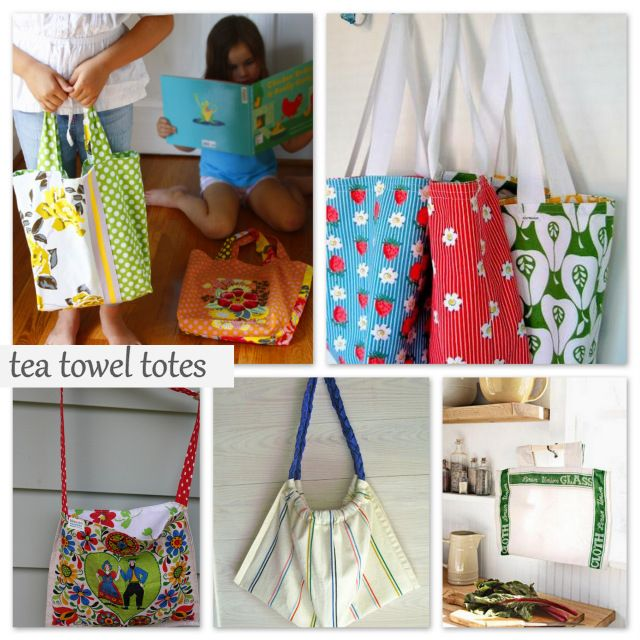 Round Up: Tea Towel Tote Bags - A Sewing Journal - A Sewing Journal