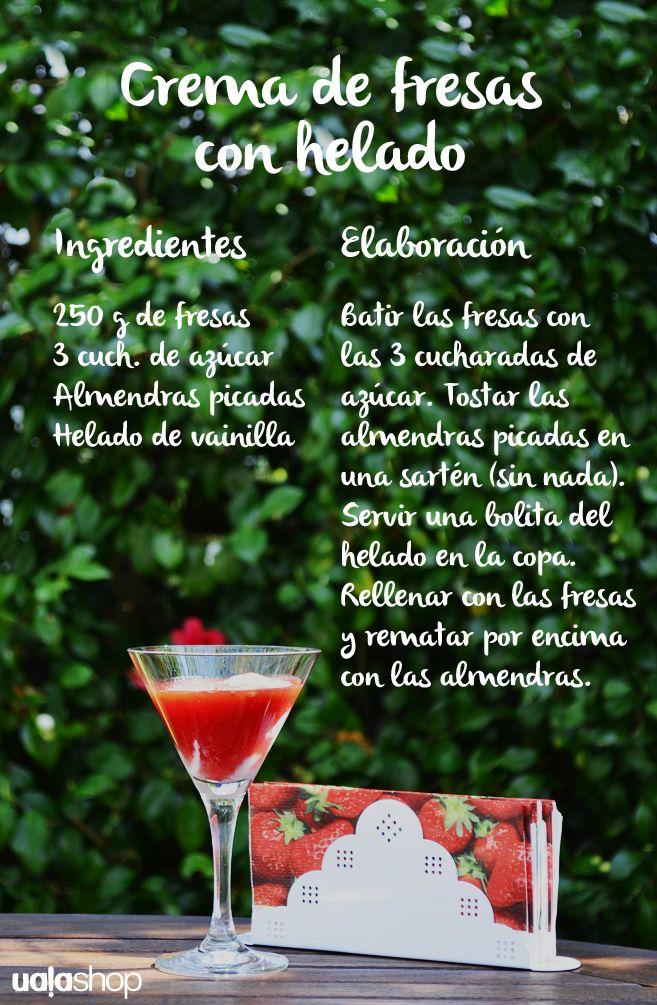 Mi receta de la crema de fresas (muuy fácil)