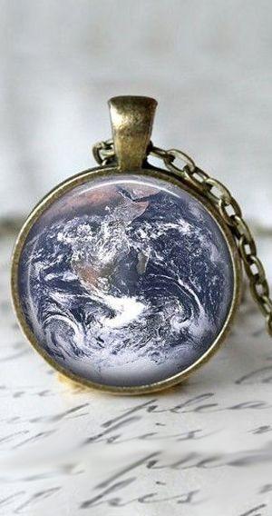 Earth pendant | necklace | jewelry design