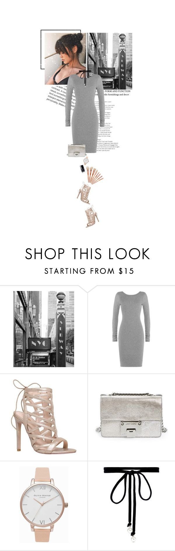 """""""city chic"""" by beingaries ❤ liked on Polyvore featuring James Perse, Carvela, Jimmy Choo, Olivia Burton and Joomi Lim"""