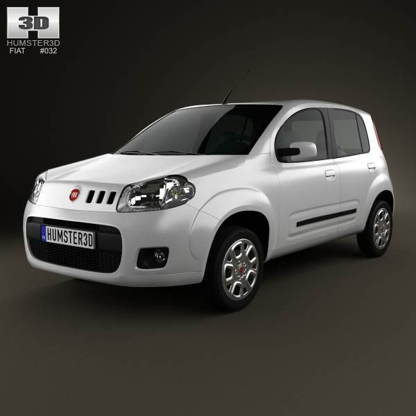 Fiat Uno Attractive hatchback 5-door 2013 3d model from humster3d.com. Price: $75