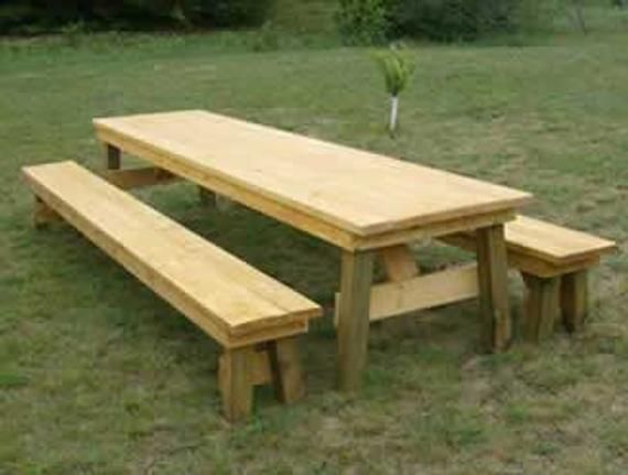 Classic Picnic Table With Separate Benches How To Plan Picnic