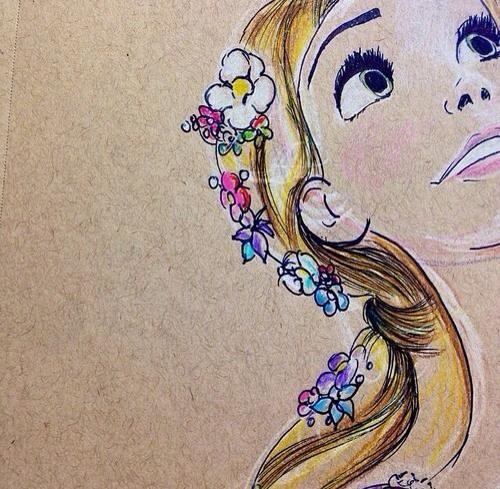 Rapuznel colour sketch