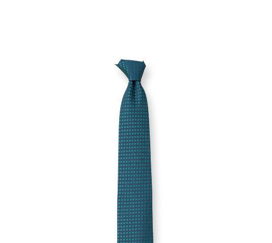 Faconnee H Bicolore Hermes silk tie in slate/lagoon green, hand-folded, 3.15''
