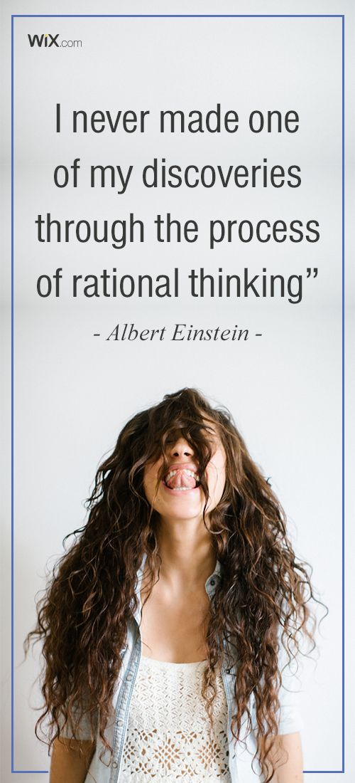 """Inspirational Design Quotes : """"I never made one of my discoveries through the process of rational thinking"""" - Albert Einstein"""