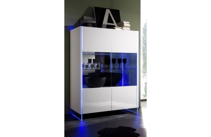 Vaisselier blanc laqué - meuble de salle - Meuble et Canapé.com