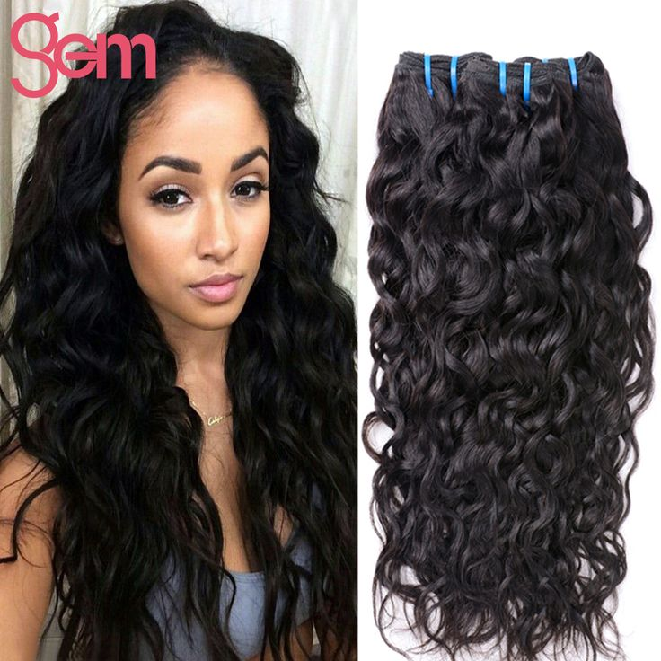 Indian Virgin Hair Water Wave 4 Bundle VIP Beauty Indian Curly Virgin Hair Natural Weave Ali Moda Raw Indian Wet Wavy Human Hair * Click image for more details.