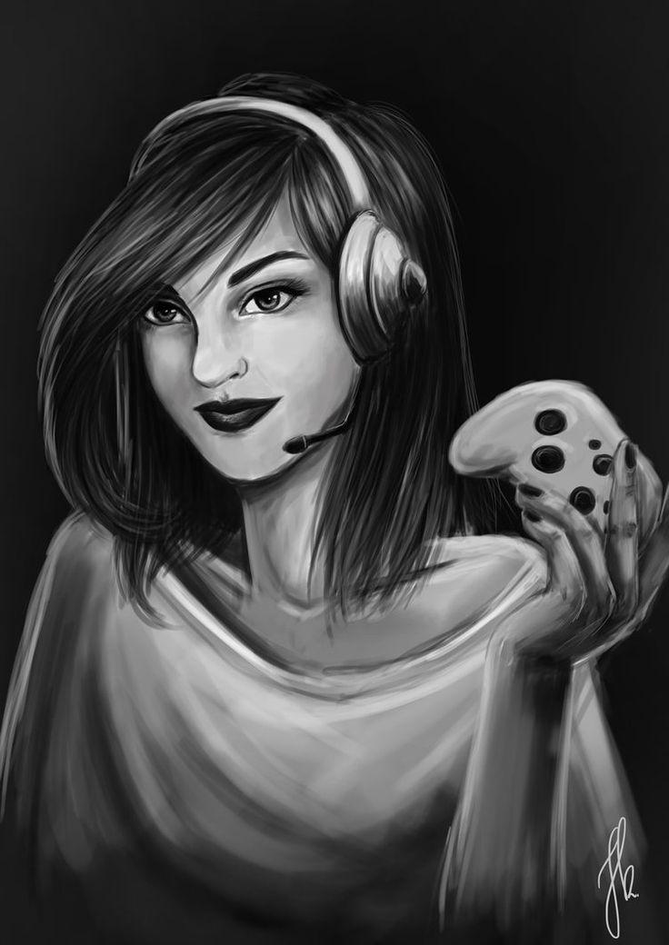 Gamer Girl by Nyrine on DeviantArt