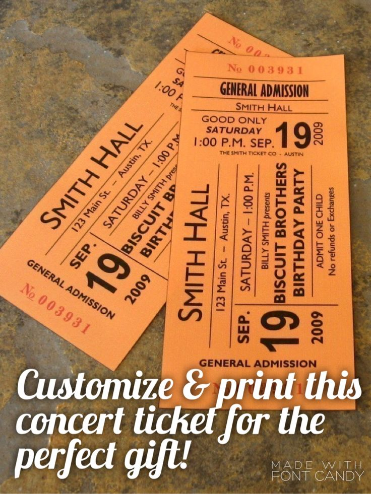 A night out on the town would be the perfect gift for the friend who has everything. Wrap up this faux ticket so you don't have to arrive empty handed to the party.
