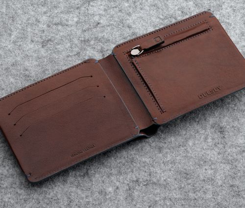 Enjôleur #wallet #leather #brown #men #Delsey