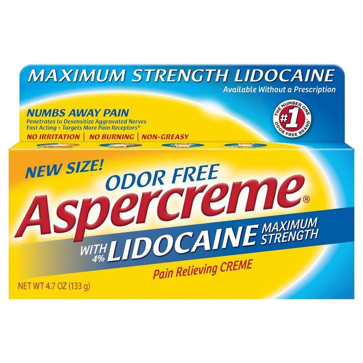 Aspercreme 4% Lidocaine Odor Free Pain Relieving Crème - 4.7 oz