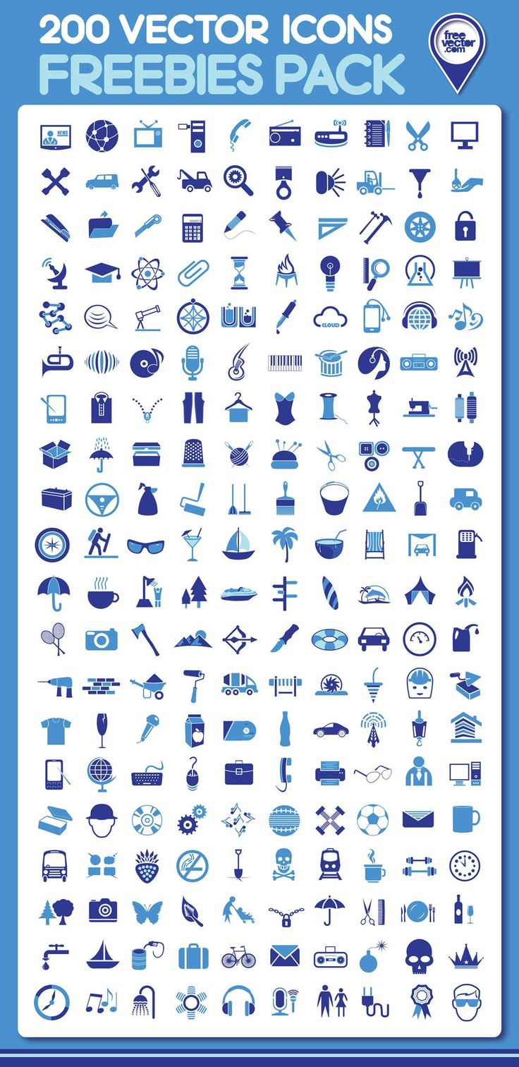 Free download: 200 vector icons photo