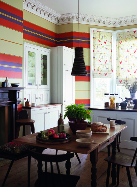 We Love This Kitchen Diner Shot Featuring Scionu0027s Adisa Wallpaper.