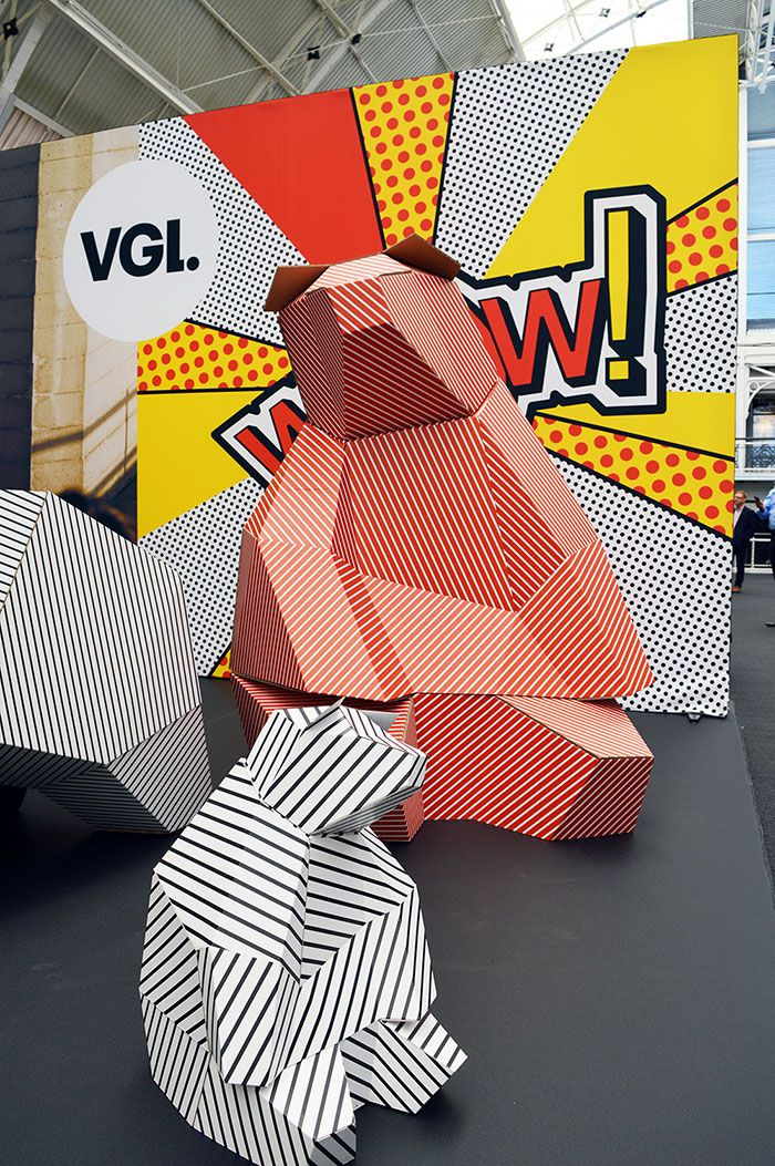 """VGL at the VM & DISPLAY SHOW,UK """"IT REALLY POPS!"""", design by Paperwolt, pinned by Ton van der Veer"""