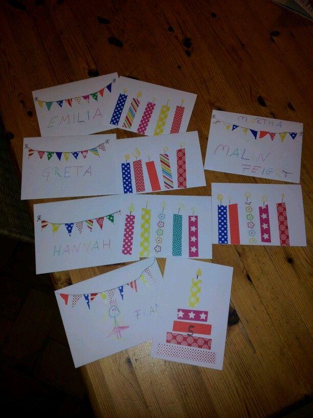 Einladungskarten DIY #washitape