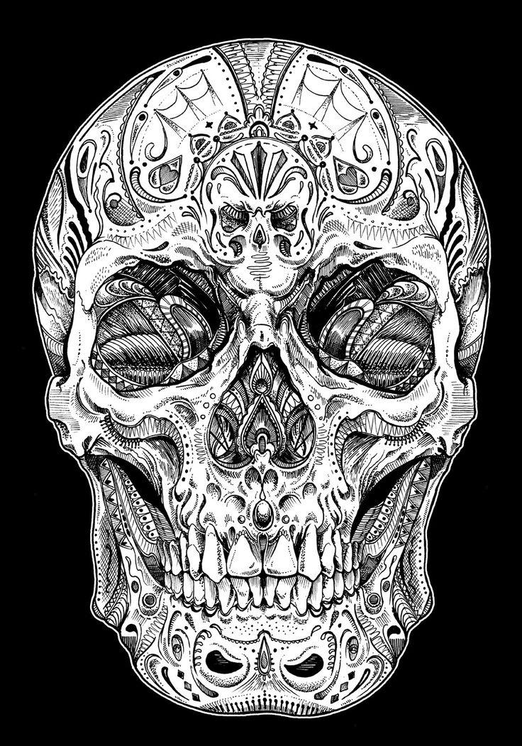 M s de 25 ideas incre bles sobre tatuajes de lobo en for Calavera lobo
