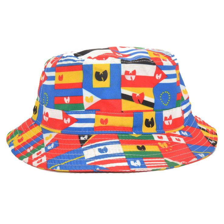 THE WU TANG BRAND UN BUCKET HAT FLAGS OF THE WORLD
