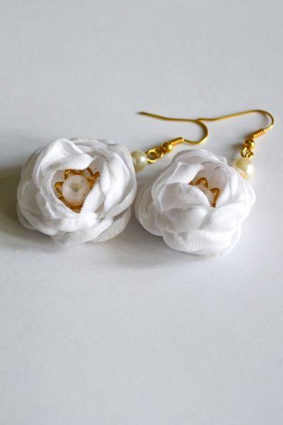 Kolczyki - Róże białe | Milita Nikonorov oficjalny butik projektantki