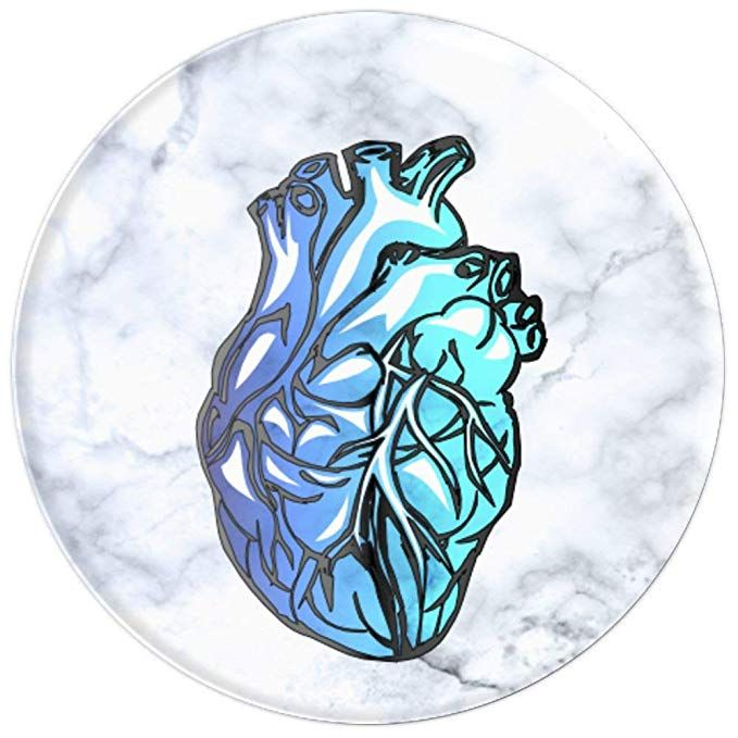 Amazon Com Blue Anatomical Human Heart For Nurses Doctors Popsockets Grip And Stand For Phones And Pop Sockets Iphone Popsockets Phone Accessories Iphone