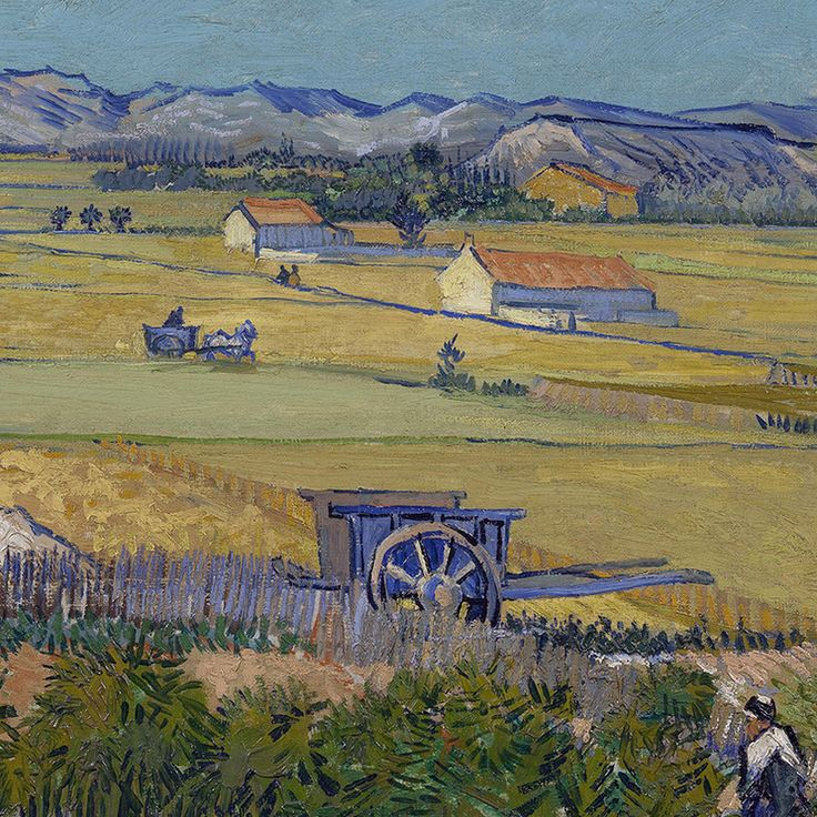The Harvest (detail) by Vincent van Gogh