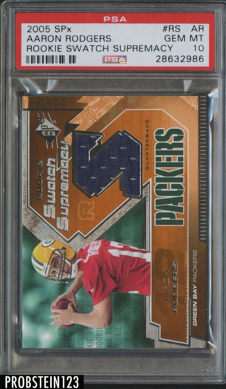 2005 spx swatch supremacy aaron rodgers rc rookie jersey