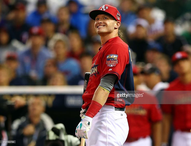 American League All-Star Josh Donaldson #20 of the Oakland A's bats during the Gillette Home Run Derby at Target Field on July 14, 2014 in Minneapolis, Minnesota.