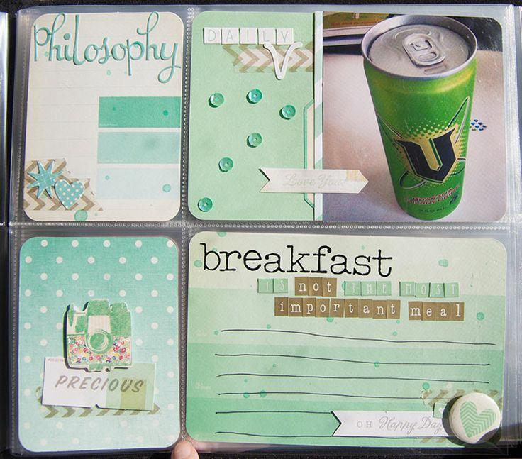 "Prompt 2 ""Breakfast"" #monthofme #createmess #scrapbooking"