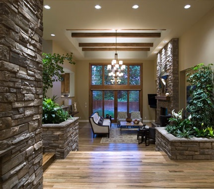 Possible Fireplace stone  Interior Stone Planter: Hudson Bay COUNTRY LEDGESTONE - Cultured Stone® Brand