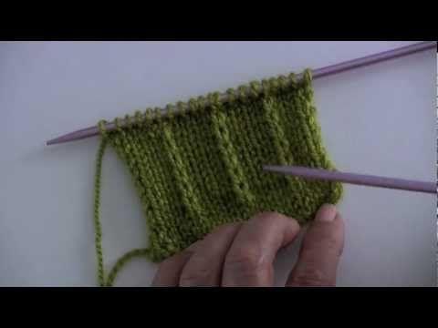 *Dejar un punto sin tejer en dos agujas o palillos (tres variantes)