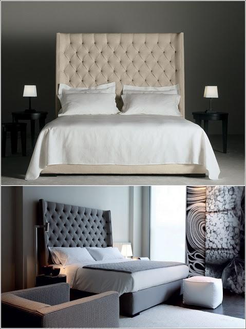 Lits rembourrés pour un look chic à votre chambre à coucher! ~ Décor de Maison / Décoration Chambre