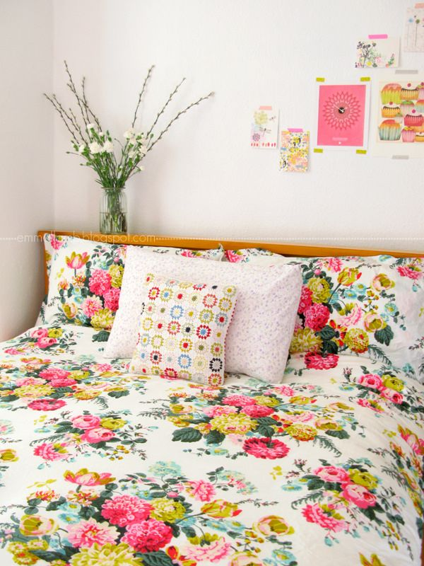 Colour Crush Joules Ruby Blooms Floral Bedroom Decorfloral