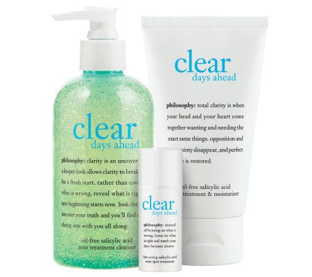 philosophy clear days ahead full-sized acne kit