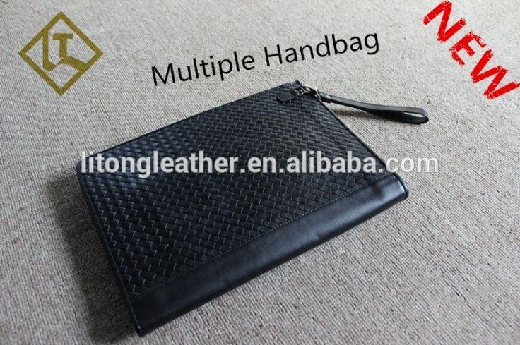 Fashion knitting women's clutch bag real leather women clutch evening bag Clutches Handbags #Clutch_Bags, #Handbags