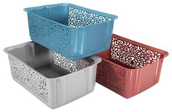 Műanyag kosár JOEL sz26xh37xma14cm vegy.