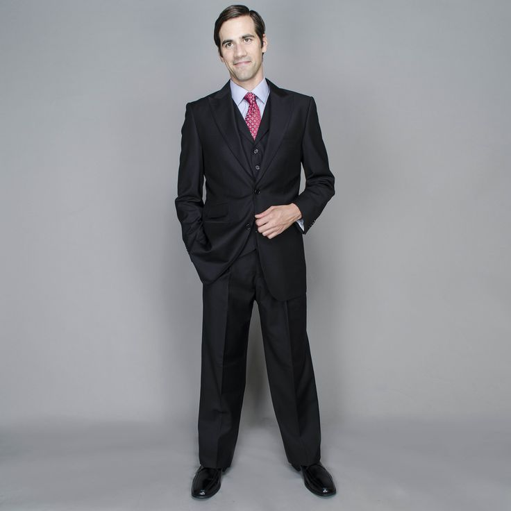 This elegant suit features a 2-Button single breasted design with classical tailored fit  . This striking suit is ideal for the office or any time you need to look your best.