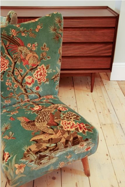 upholstery fabric for chairs -ideas for grandma's chair