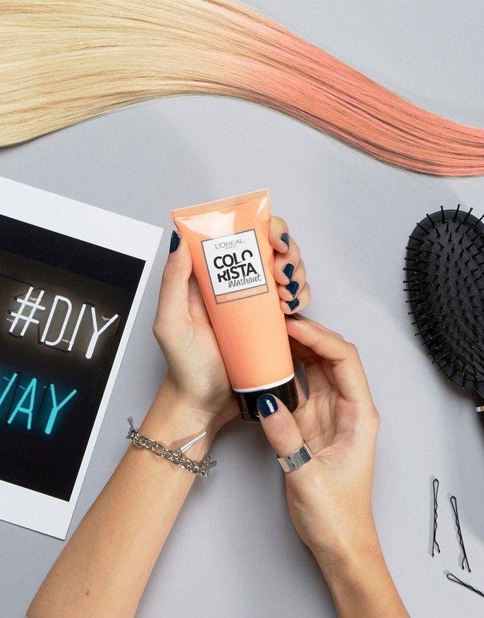*Werbung* LOral Paris Colorista L'Oreal Paris – Colorista – Haarfarbe zum Auswaschen, Pfirsich - Haarfarbe von L'Oreal Paris COLORISTA, semipermanente Haarfarbe in einer Haarmaske, sanfte Färbung der Haare bei gleichzeitiger Pflege, verblasst mit der Zeit über 1–2 Wochen mit jedem Shampoonieren, damit die Haarfarbe jederzeit geändert werden kann, mit Chroma-Cream-Technologie, für einen individuellen Look kann man Strähnen in verschiedenen Farben färben,