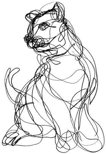 Scribble Gesture Drawing : Images about animal gesture drawings on pinterest