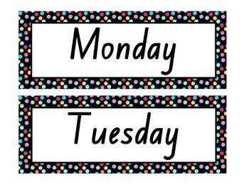 Number Names Worksheets days of the week printable : 1000+ images about Calendar Printables on Pinterest