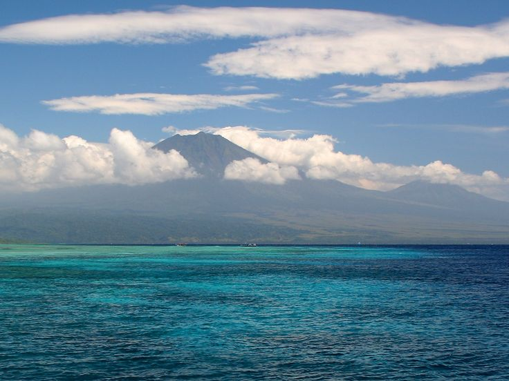View of Java from the island of Bali.
