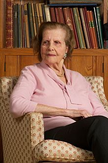 Maria Altmann (February 18, 1916 – February 7, 2011) was an Austrian-American Jewish refugee from Austria, which at that time was occupied by the Nazis. She is noted for her ultimately successful legal campaign to reclaim from the Government of Austria five family-owned paintings by the artist Gustav Klimt stolen by the Nazis during World War II.  Altmann is the central figure in the 2015 film Woman in Gold where she is portrayed by Helen Mirren and Tatiana Maslany.