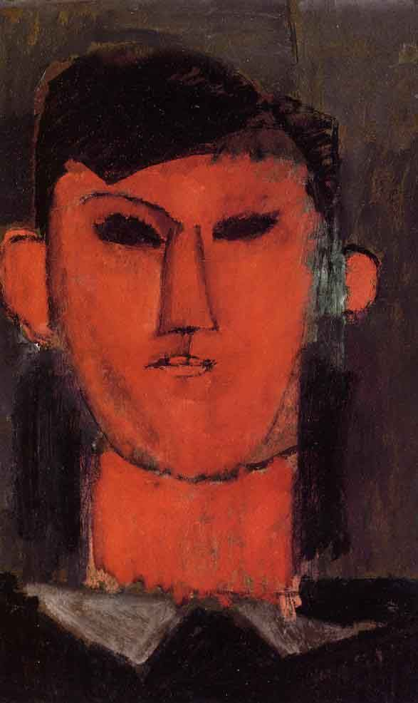 The characteristics of Modigliani's avant-garde emerging style are evident in this portrait of Pablo Picasso, such as the incorporation of large swatches of bold colors and distorted forms. Despite these features that suggest a certain degree of abstraction, we still understand that the forms before us on the canvas comprise a man's visage. Many of  Modigliani's contemporaries sat for portraits including Diego Rivera and Juan Gris, both of whom can be seen on Art Authority's community web…