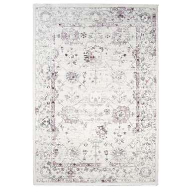 Tapijt Sevilla - wit/roze - 160x230 cm