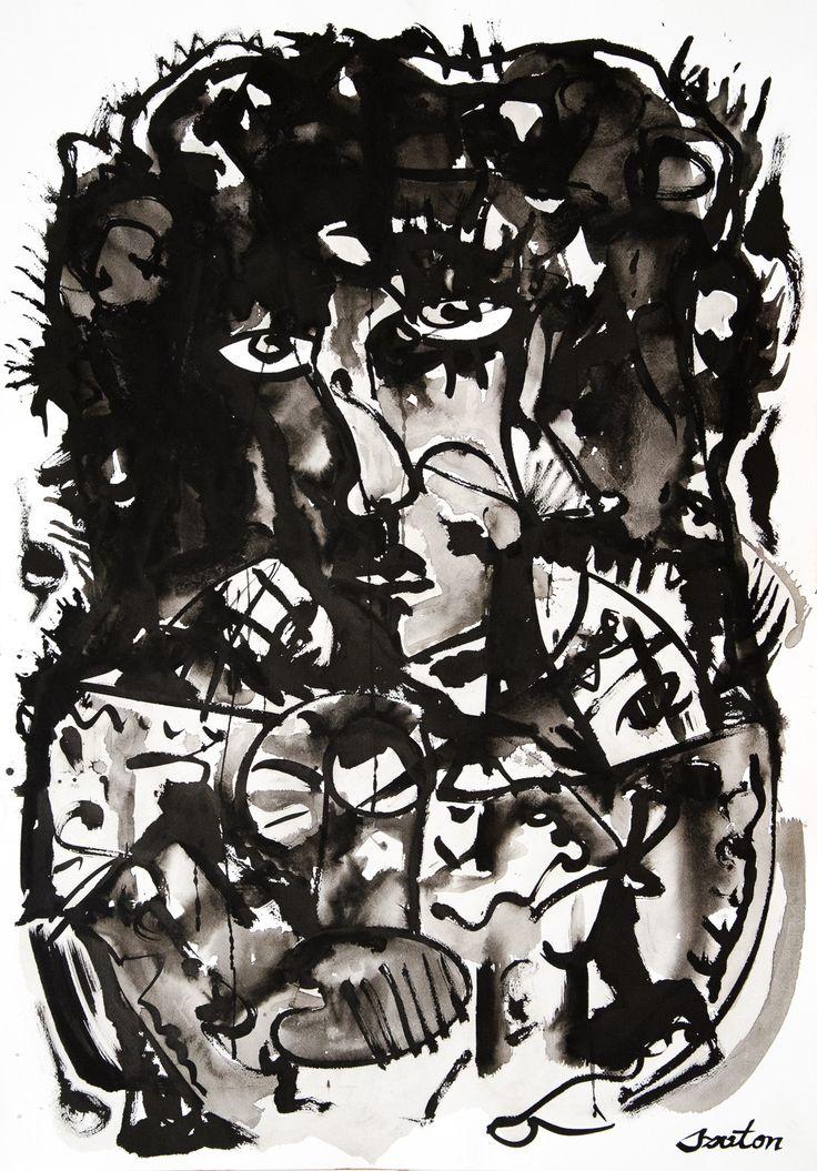 Rafal Michal Szaton, Fantasma (2012)  #painting #art #artmarket #limitededition #artistoftheday #fineart #buyart  #popart #polishart #pinmorales
