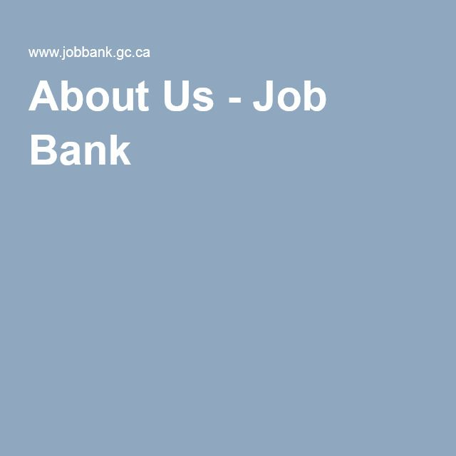 About Us - Job Bank