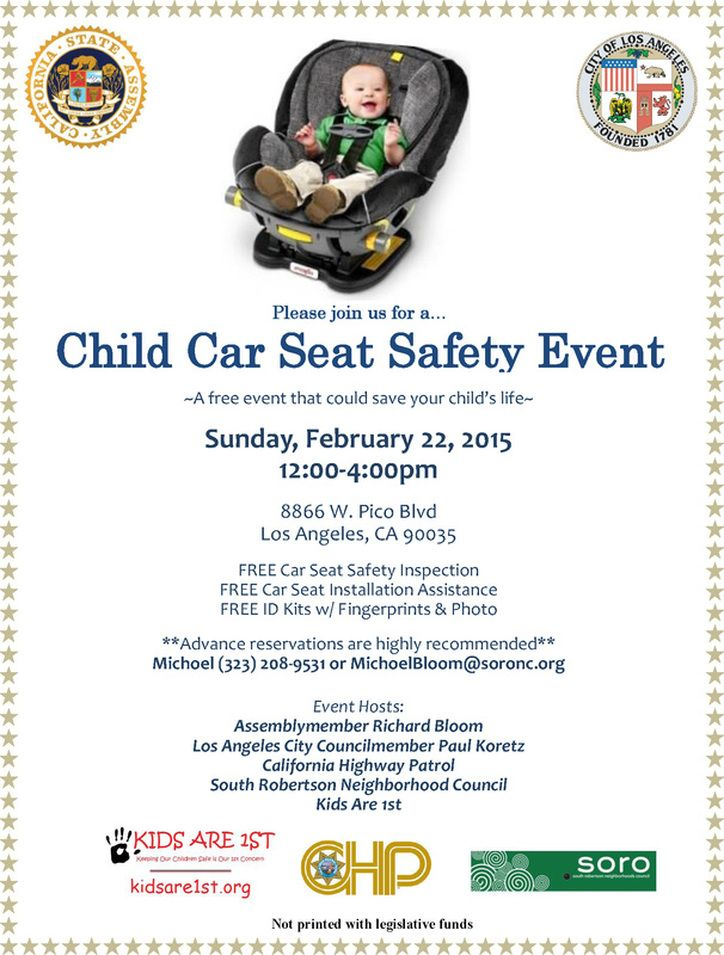 CHILD CAR SEAT SAFETY EVENT A Free Event That Could Save Your Childs Life